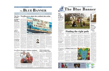 Figure 2: The Blue Banner's last years as a broadsheet, 2007 and 2008.
