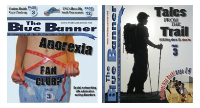Figure 3: During the spring 2009 semester, The Blue Banner reverted to the       tabloid format.