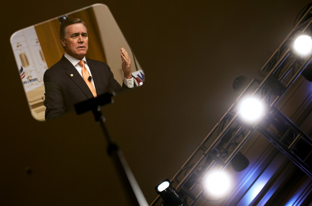 UNITED STATES - JUNE 19- Sen. David Perdue, R-Ga.  speaks during the Faith & Freedom CoalitionÕs Road to Majority conference which featured speeches by conservative politicians at the Washington D.C. Omni Shoreham Hotel, June 19, 2015.(Photo By Al Drago/CQ Roll Call)