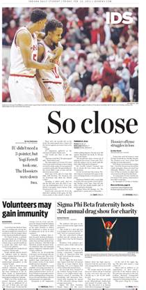 """So close,"" Indiana Daily Student, April 8, 2015."