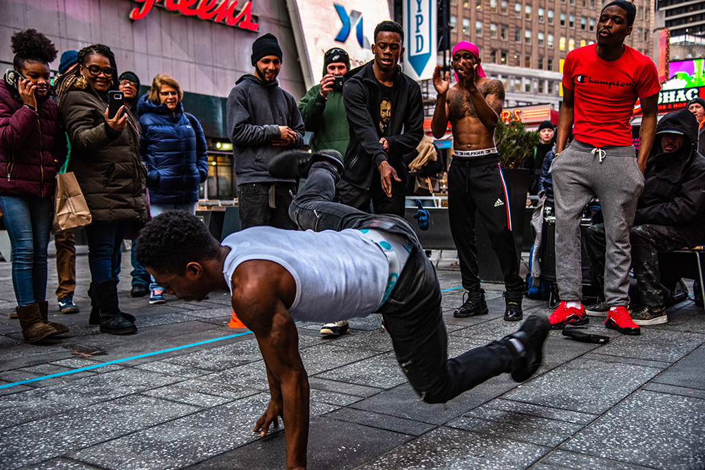 ShowTime at 42nd st Time Square. (Dancer: King Tuck)